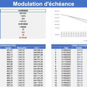 Fichier Excel modulation d'échéance