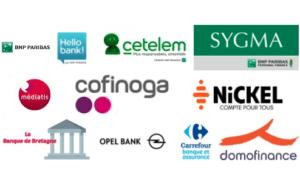Filiales BNP Hello Bank Cetelem Sygma Médiatis Cofinoga Nickel La banque de Bretagne Opel banque 50% (50% détenus par PSA Banque) Carrefour Banque 40% (60% détenus par Carrefour) Domofinance 55% (45% détenus par EDF)