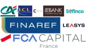 Filiales Crédit Agricole : LCL Créditlift BforBank Sofinco Finaref FCA Capital - détention 50% avec FIAT LEASYS - détention 50% avec FIAT