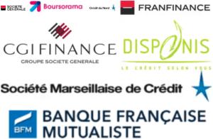 Filiales de la Société Générale : Boursorama Crédit du Nord Franfinance CGI Finance Disponis Société Marseillaise de Crédit BFM